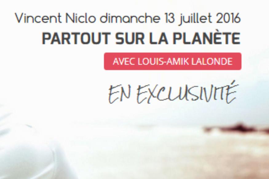 """Vincent Niclo en entrevue dans """"Partout sur la Planète"""""""