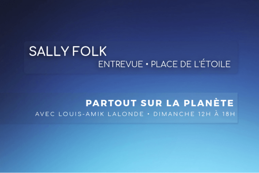 Sally folk en entrevue sur Fréquence-Plaisir